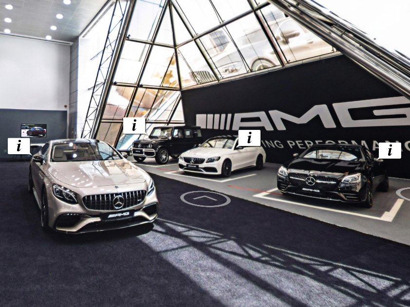 360 virtual tour of NBk Mercedes Benz showroom virtual tour project